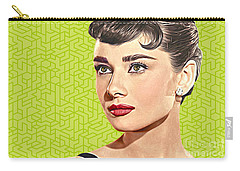 Audrey Hepburn_popart06-3 Carry-all Pouch by Bobbi Freelance