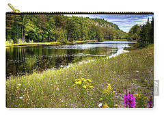 Carry-all Pouch featuring the photograph August Flowers On The Pond by David Patterson