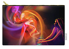 Carry-all Pouch featuring the painting August Moon by DC Langer
