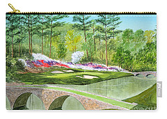 Augusta National Golf Course 12th Hole Carry-all Pouch by Bill Holkham