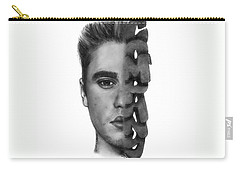 Justin Bieber Drawing By Sofia Furniel Carry-all Pouch by Sofia Furniel
