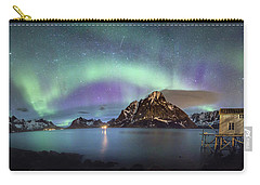 Aurora Above Reinefjord Carry-all Pouch