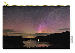 Carry-all Pouch featuring the photograph Aurora At Lake Billy Chinook by Cat Connor