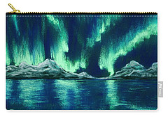 Carry-all Pouch featuring the pastel Aurora Borealis by Anastasiya Malakhova