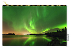 Aurora Borealis At Elk Island National Park Carry-all Pouch