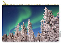 Carry-all Pouch featuring the photograph Aurora Borealis by Delphimages Photo Creations