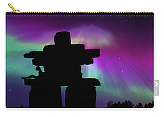 Aurora Borealis - Inukshuk - Northern Lights  Carry-all Pouch by Andrea Kollo