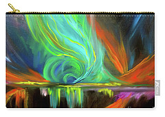 Aurora Borealis Carry-all Pouch by Jenny Lee