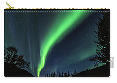 Aurora Borealis Northern Lights At Kantishna In Denali National Park Carry-all Pouch by Brenda Jacobs