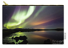 Aurora Borealis Over Thinvellir Carry-all Pouch by Gunnar Orn Arnason