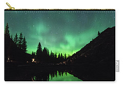 Aurora On Moraine Lake Carry-all Pouch by Alex Lapidus