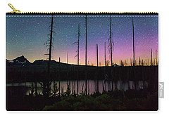 Carry-all Pouch featuring the photograph Aurora Reflections by Cat Connor