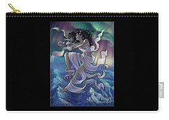 Carry-all Pouch featuring the digital art Aurora Weaver by Amyla Silverflame