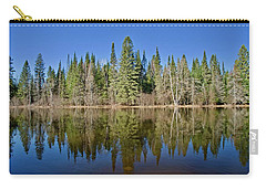Carry-all Pouch featuring the photograph Ausable Reflections 1768 by Michael Peychich