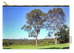 Carry-all Pouch featuring the photograph Aussie Gum Tree Landscape By Kaye Menner by Kaye Menner