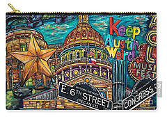 Austin Keeping It Weird Carry-all Pouch by Patti Schermerhorn