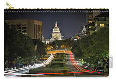 Carry-all Pouch featuring the photograph Austin Light Trails by Tim Stanley