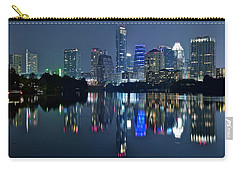 Austin Night Reflection Carry-all Pouch by Frozen in Time Fine Art Photography