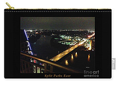 Carry-all Pouch featuring the photograph Austin Nights Split Paths East by Felipe Adan Lerma