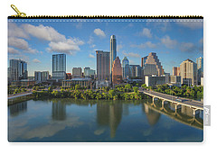 Austin Skyline Panorama Spring Afternoon 7-1 Carry-all Pouch by Rob Greebon