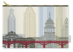 Austin Skyline Poster Carry-all Pouch by Pablo Romero