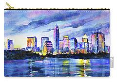 Austin Texas Colorful Skyline Sunset Carry-all Pouch