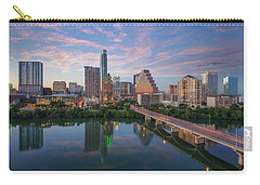 Austin Texas Evening Skyline 73 Carry-all Pouch by Rob Greebon