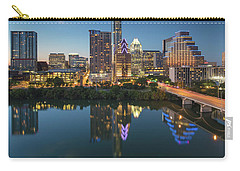 Austin Texas Skyline At Night 73 Carry-all Pouch by Rob Greebon