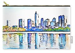 Austin Texas Skyline Lady Bird Lake Carry-all Pouch