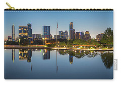 Austin Texas Skyline Panorama Before Sunrise 1 Carry-all Pouch by Rob Greebon