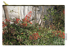 Carry-all Pouch featuring the photograph Austin Winter Berries by Linda Phelps