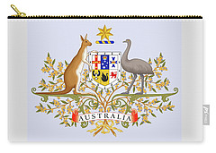 Carry-all Pouch featuring the drawing Australia Coat Of Arms by Movie Poster Prints