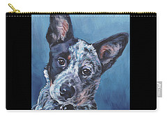 Carry-all Pouch featuring the painting Australian Cattle Dog by Lee Ann Shepard