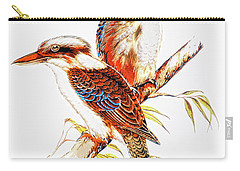 Carry-all Pouch featuring the photograph Australian Kookaburra 666 by Kevin Chippindall
