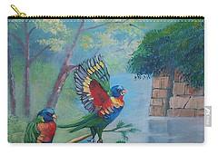 Australian Rainbow Parrots Carry-all Pouch