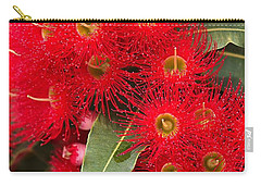 Australian Red Eucalyptus Flowers Carry-all Pouch by Joy Watson