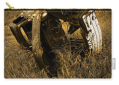 Auto Wreck In A Grassy Field On The Prairie At Sunset Carry-all Pouch