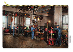Carry-all Pouch featuring the photograph Autobody - The Bodyshop 1916 by Mike Savad