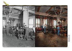 Carry-all Pouch featuring the photograph Autobody - The Bodyshop 1916 - Side By Side by Mike Savad