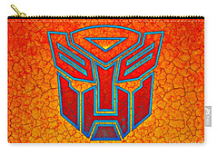Carry-all Pouch featuring the digital art Autobot Cracked by Justin Moore