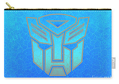 Carry-all Pouch featuring the digital art Autobot Scales by Justin Moore