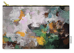Carry-all Pouch featuring the painting Autumn Abstract Painting by Ayse Deniz