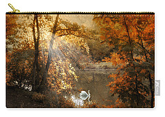 Carry-all Pouch featuring the photograph Autumn Afterglow by Jessica Jenney