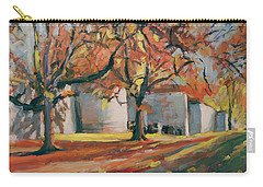 Autumn Along Maastricht City Wall Carry-all Pouch by Nop Briex