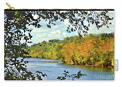 Autumn Along The New River - Bisset Park - Radford Virginia Carry-all Pouch