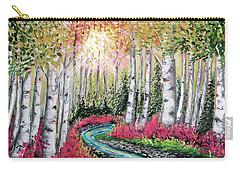 Autumn Aspen River Sunrise Carry-all Pouch