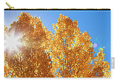 Autumn Aspens With Sun Star Carry-all Pouch