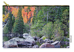 Carry-all Pouch featuring the photograph Autumn At Bear Lake by David Chandler