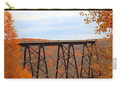 Carry-all Pouch featuring the photograph Autumn At Kinzua Bridge by Rick Morgan