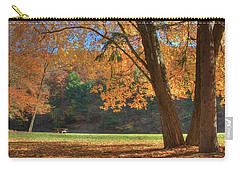 Carry-all Pouch featuring the photograph Autumn At Lykens Glen by Lori Deiter
